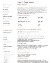 Sample Resume Security Guard by Winning Sample Resume For Security Officer Strikingly Resume Cv