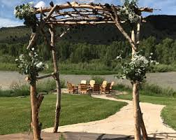 wedding arches rustic rustic wedding arbor etsy