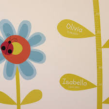 childrens flower height chart wall stickers by parkins interiors childrens flower height chart wall stickers