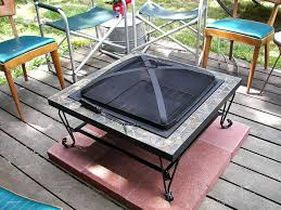 Firepit Pad Diy Pit Pad What To Put A On Deck Lowes Gas For
