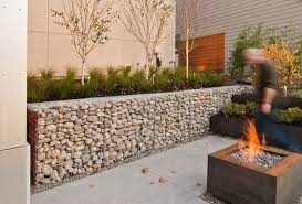 modern stone retaining wall these easily assembled gabion walls