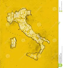 Liguria Italy Map by Map Italy Vintage Yellow Stock Vector Image 90760967