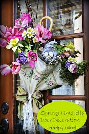serendipity refined blog spring side door decor april showers