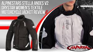 textile motorcycle jacket alpinestars stella andes v2 drystar womens textile motorcycle