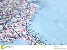 Map East Coast Florida by Map East Coast America Stock Image Image 14911521
