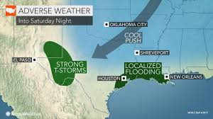 New Orleans Weather Map by Heavy Storms To Drench Texas Louisiana Through Saturday Night