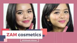 Lipstik Zaskia Adya Mecca zam cosmetics di kulit terang sawo matang fd swatch