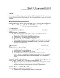 Public Health Resume Objective Medical Surgical Nurse Resume Labor And Delivery Nurse Travel