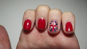 nail art olympic team gb flag nails perfectly polished