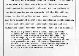 jimmy carter the president u0027s letter on the voyager probe