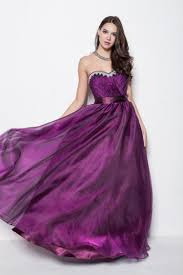 floor length purple strapless sweetheart a line evening prom