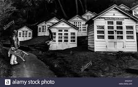 chalet style beach huts in alum chine poole bournemouth dorset