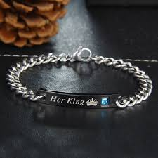 his and hers engraved bracelets new customized bracelets king his personalized