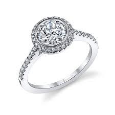 bezel set engagement rings modern bezel set halo engagement ring s1091 sylvie