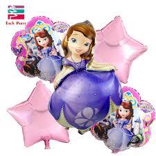 sofia the birthday aliexpress buy 5pcs lot princess sofia birthday balloons