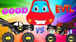monster truck kid videos little red car good vs evil scary batman truck monster