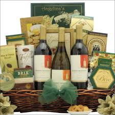 wine and gift baskets festive holidays trio robert mondavi selection gourmet