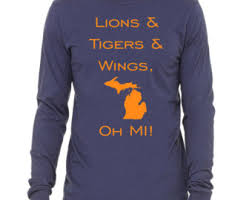 sale lions tigers and wings oh mi shirt