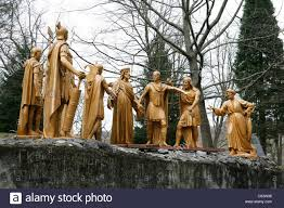 lourdes in winter jesus christ with the cross roman soldiers