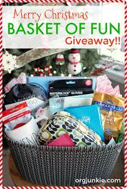 christmas basket merry christmas basket of giveaway at i m an organizing junkie