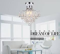 Light Crystal Chandelier K9 Crystal Chandelier Pendant Lamp Ceiling Light Fixture 3 Lights