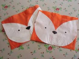 lucky ladybird craft fox face fused plastic placemats
