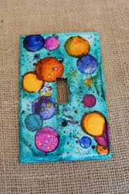 painted light switch covers diy alcohol ink art switch plates fun diy light switches and