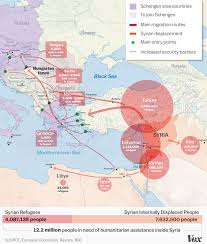 map of syria the syrian refugee crisis explained in one map vox