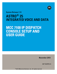mcc 7100 ip dispatch console setup and user guide
