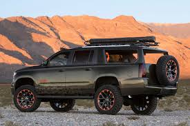 chevy earthroamer country star luke byran tricks out chevrolet suburban concept for