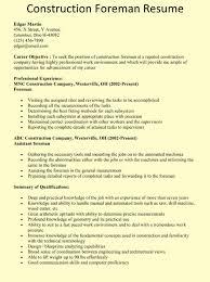 Plumbing Supervisor Resume Sample Construction Foreman Resume Example U2026 Chicago Jobs Pinterest