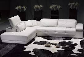 Modern Sectional Leather Sofas Living Room Modern Black White Living Room Themed With L Shaped