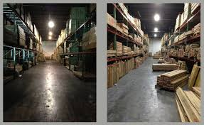 commercial warehouse lighting fixtures led lighting installation helps atlanta furniture warehouse realize
