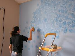 Wall Painting Patterns by Everyday Adventures Friday Flashback The Blue Wall