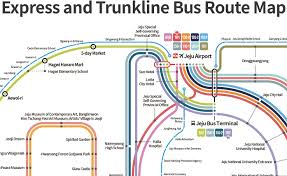 Bus Route Map New Bus System Express And Trunk Lines Map U2013 Jeju Tourism