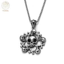 aliexpress buy new arrival cool charm vintage free shipping 2018 newest women s jewelry vintage silver tone skull