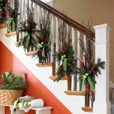 stair rail decoration i like this better than garland at least