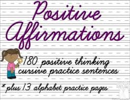 this is a set of 180 sentences one for each day of positive