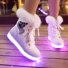 where can i buy light up shoes new women led light luminous shoes hidden wedge high top sneaker