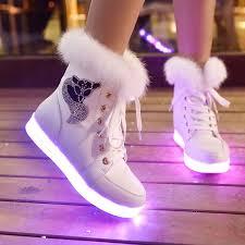 where can i buy light up shoes new women led light luminous shoes hidden wedge high top sneaker