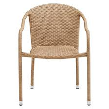 crosley palm harbor outdoor wicker stackable chairs set of 2