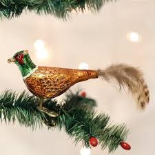 world pheasant glass blown ornament home