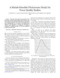 a matlab simulink flickermeter model for power quality studies