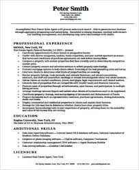 Resume Sample For Real Estate Agent by Real Estate Agent Resume Real Estate Resume Templates Sample New