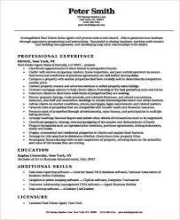 Real Estate Resume Templates Free Real Estate Agent Resume Sample Professional Resume Format