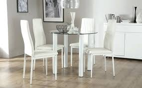 white dining table set formal black and white chairs dining