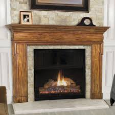 rustic fireplace design feat distressed wooden fireplace mantel