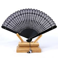 fans wholesale limited black leques japoneses bamboo folding fans
