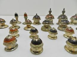 antique chess set sterling silver u0026 wood origins collectors