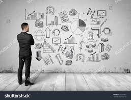 white wall back view man looking white wall stock photo 395294875 shutterstock